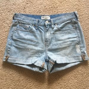 Madewell denim shorts painter edition size 27